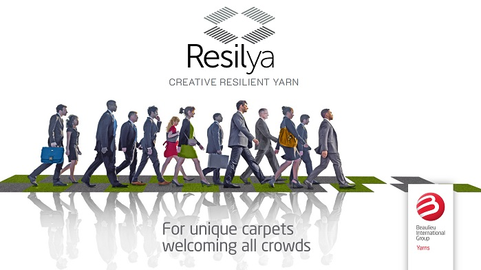 Resilya yarn family answers the need for a new level of durability, quality and originality in design from the contract market. © Beaulieu Yarns