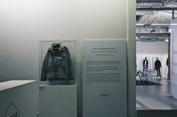 The exhibition offers insight into the qualities that Gore-Tex product technologies bring to lifestyle and fashion collections. © Gore-Tex