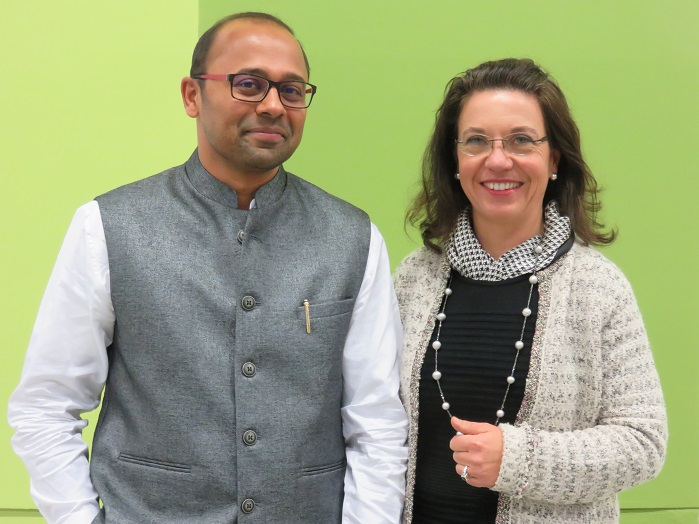Gopinath Bala, CEO and Technical Director, SAF, and Regina Brückner, CEO, Brückner. © Brückner Textile Technologies