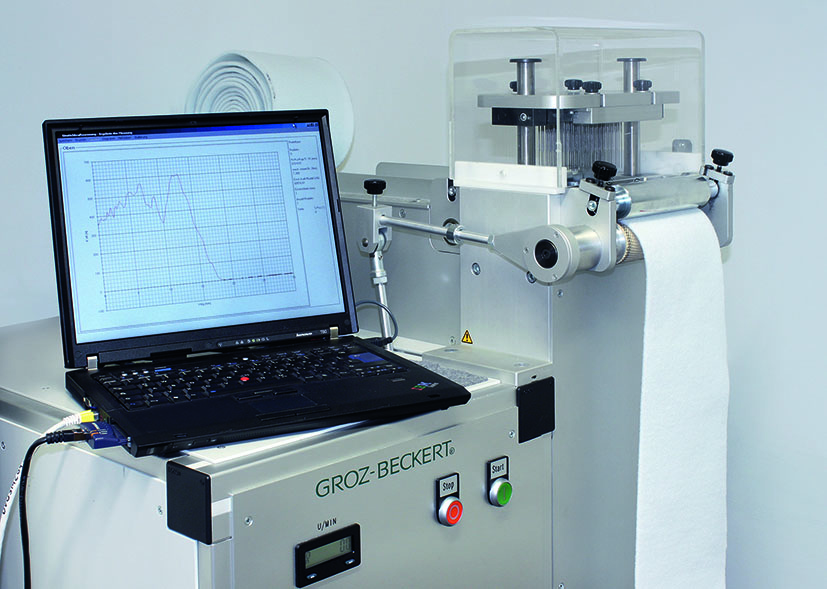 A special highlight for visitors to the Groz-Beckert booth will be the live demonstration on a lab-scale needling machine. © Groz-Beckert