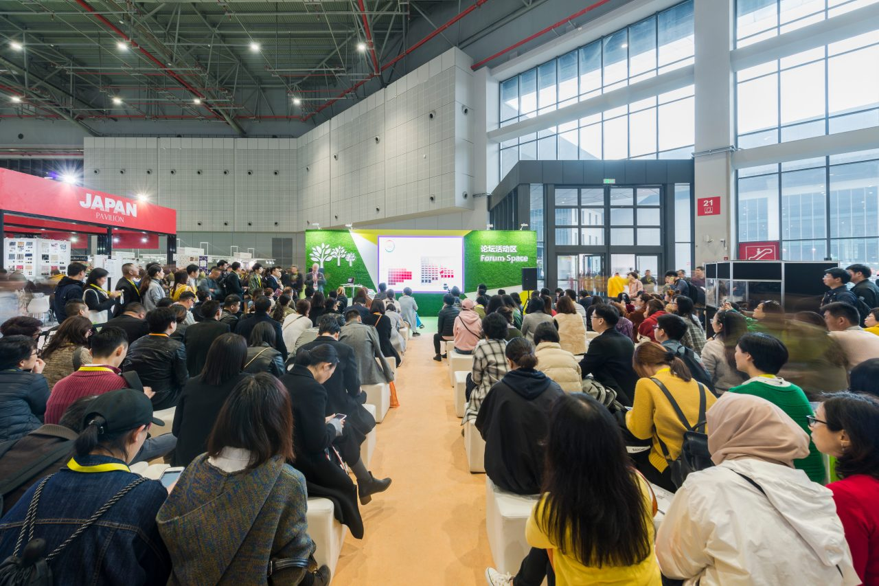 The Forum Space at last year's All About Sustainability zone proved popular. © Spring Edition of Intertextile Shanghai Apparel Fabrics