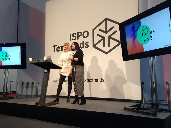 Joanne Thomas, Head of Content at Coloro, and Clare Varga, Director Active (Sport) at WGSN. © Innovation in Textiles