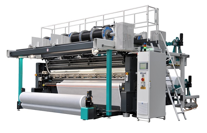 Karl Mayer launches new Racop-NW series of raschel machines for web bonding. © Karl Mayer