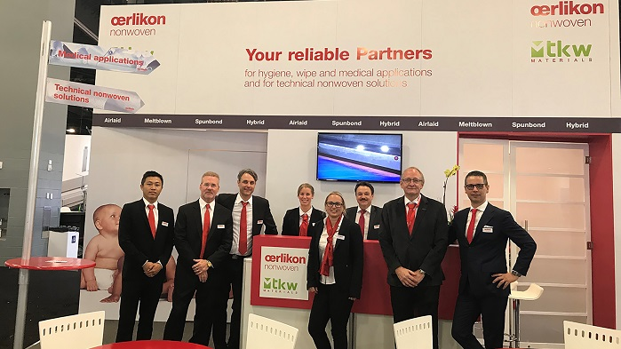 Oerlikon team at the IDEA show in Miami 2019. © Oerlikon