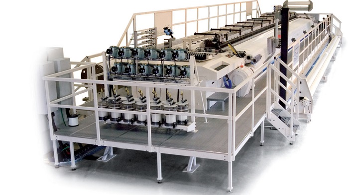 Texo's TCR high-speed loom developed specifically for the production of forming fabrics for paper machines. © Texo