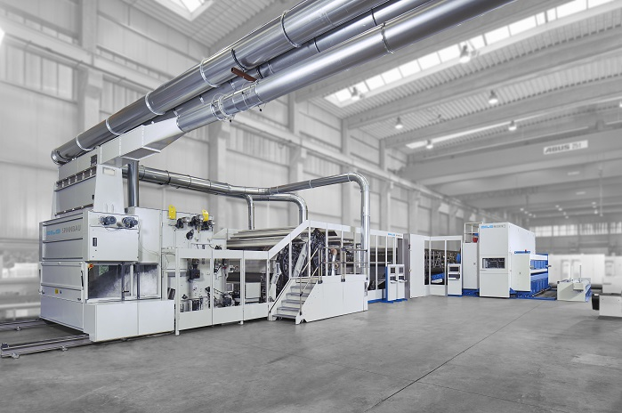 Dilo needlefelt production line, working width – 7m. © DiloGroup