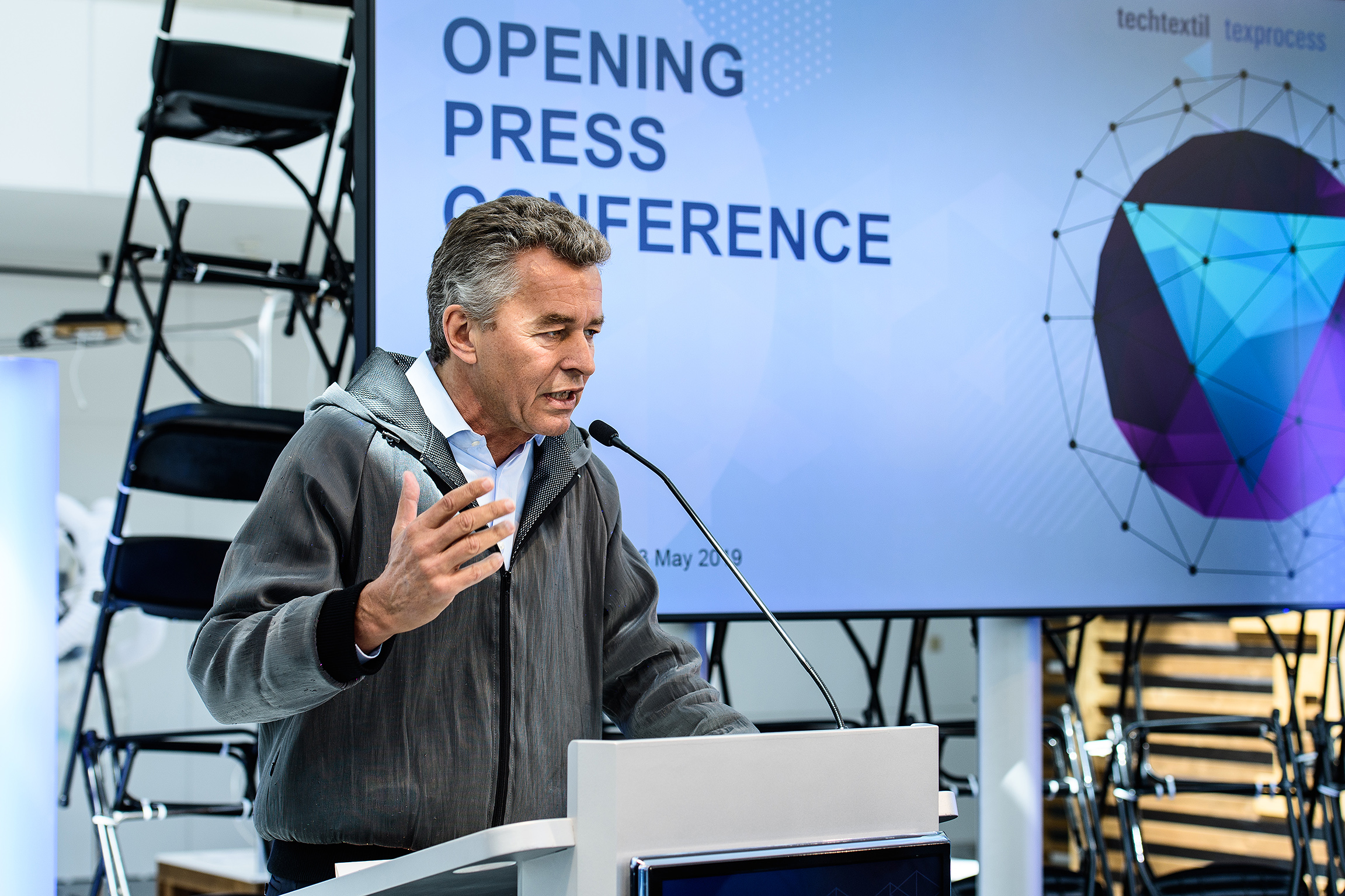 Detlef Braun, Member of the Executive Board/ Functional Jacket. Photo: Messe Frankfurt Exhibition GmbH/ Pietro Sutera.