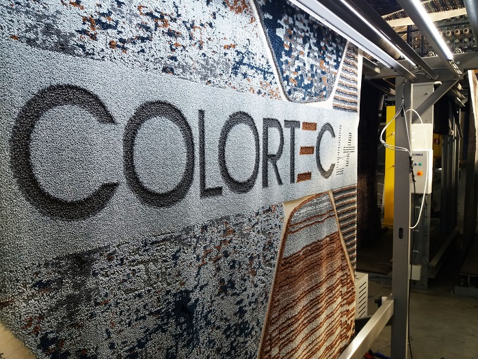 Possibilities for multi-colour jacquard-type cut and loop wall-to-wall carpets, area rugs, bathmats etc. © Cobble