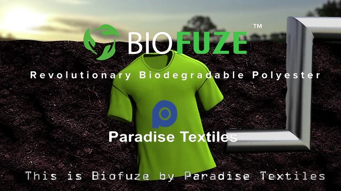 Biofuze is produced using a unique patent process yarn. © Paradise Textiles