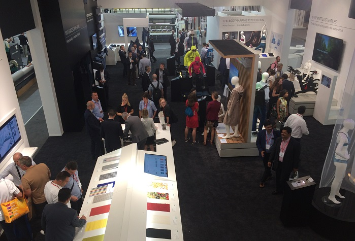 Karl Mayer welcomed nearly 1,000 visitors during the first four days. © Innovation in Textiles