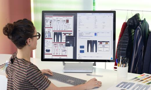 With a web-standard interface and social-media-inspired communication tools, fashion companies can work faster and smarter, the company believes. © Lectra