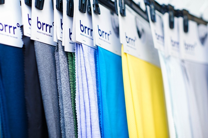 brrr°'s cooling technology is embedded in the structure of the yarn of the fabric. © brrr°