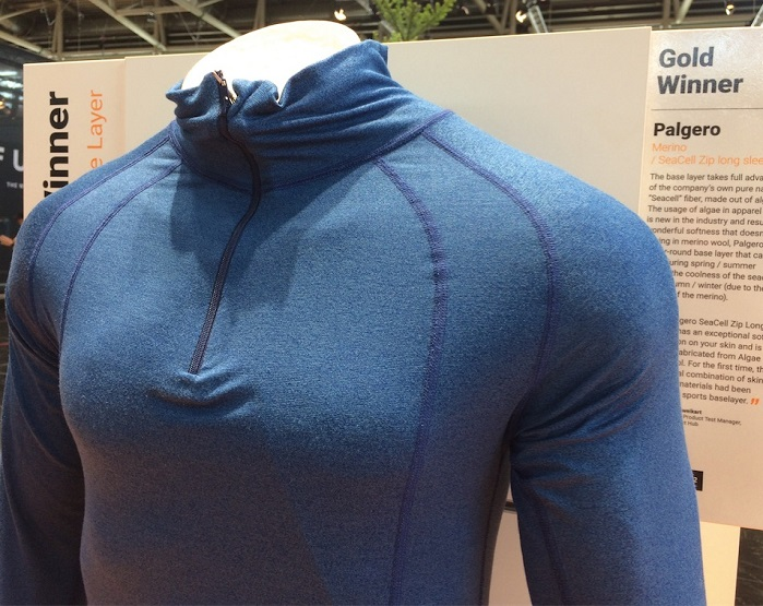 Palgero SeaCell and merino wool baselayer at OutDoor by ISPO 2019. © Anne Prahl