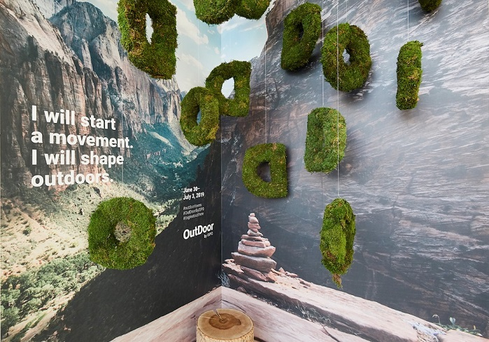 Outdoor industry Code of Conduct display at OutDoor by ISPO. © ISPO