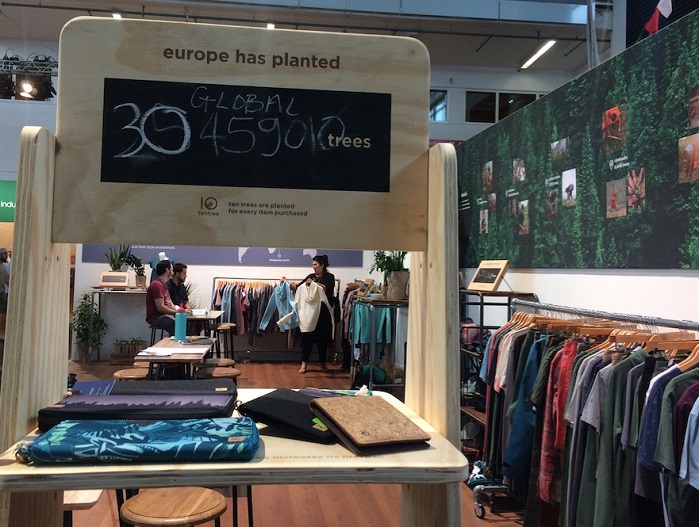tentree collection at OutDoor by ISPO 2019. © Anne Prahl