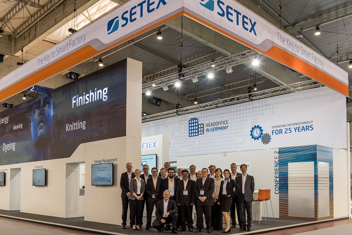 Setex team, including colleagues from overseas offices and service centres worldwide, at ITMA. © Setex
