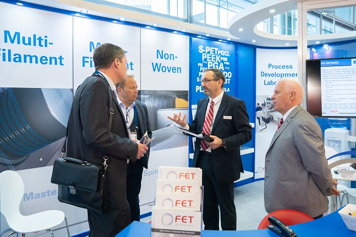 The FET stand at Techtextil Frankfurt. © FET