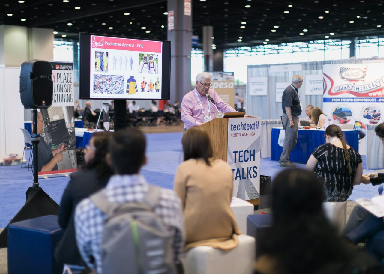 Tech Talks at Techtextil North America 2017. © Messe Frankfurt GmbH/Techtextil North America