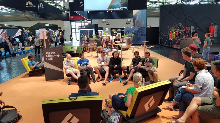 Industry experts at OutDoor by ISPO 2019 discussed the potential for improvement in the climbing industry. © ISPO