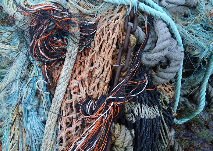 Aquafil obtains new nylon yarn from discarded resources, such as end of life fishnets. © Aquafil