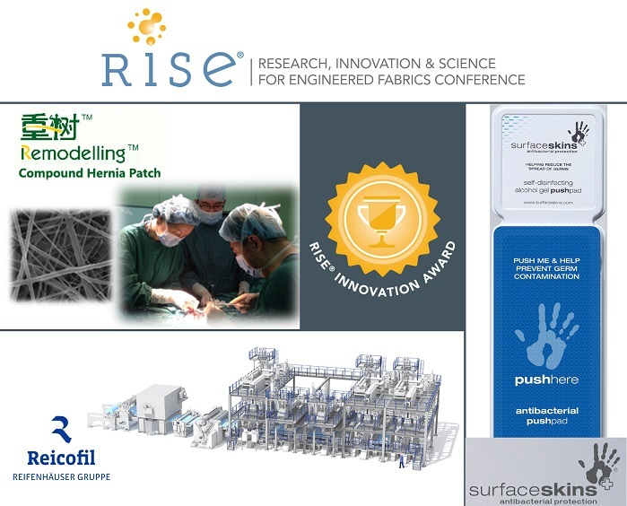 The award recognises novel and ingenious solutions in research, innovation and science for engineered fabrics. © INDA