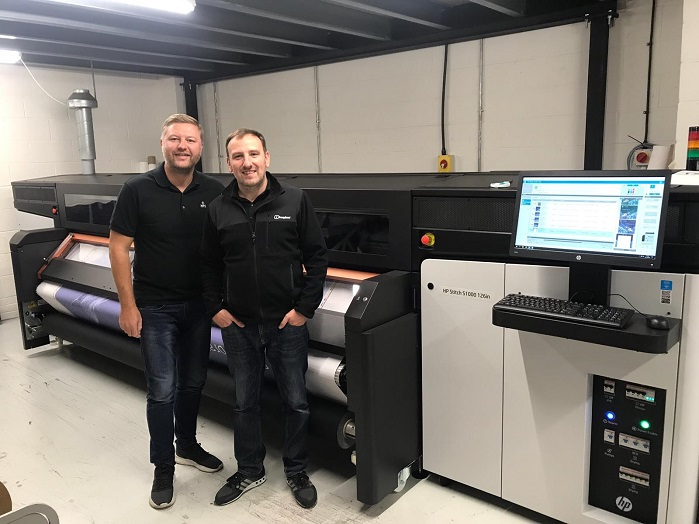 Manchester Print Services is the first HP Stitch customer in the UK, and PONGS is its materials manufacturer of choice. © Manchester Print Services
