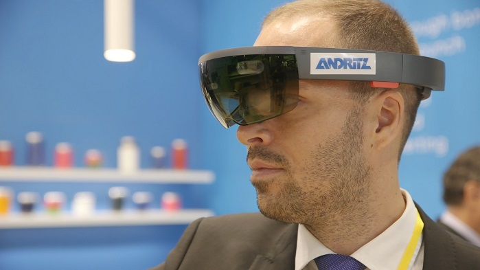 The METRIS programme of Andritz Nonwovens involves a range of new aids for nonwovens production, involving automation, augmented reality (AR) and more. © ITMA 2019