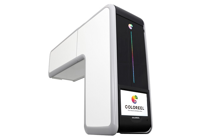 Coloreel thread colouring unit. © Coloreel