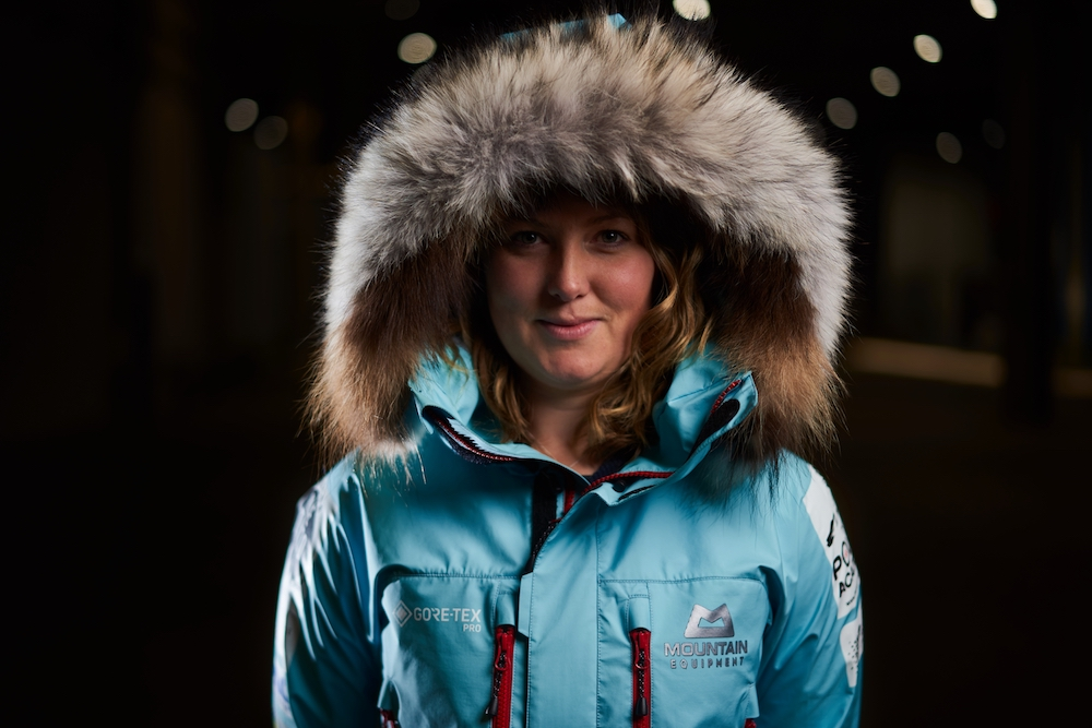 One of the first people to test the new Gore-Tex Pro technology is Mollie Hughes, who is wearing GORE-TEX PRO gear from Mountain Equipment during her current solo ski expedition to the South Pole. © Gore-Tex.