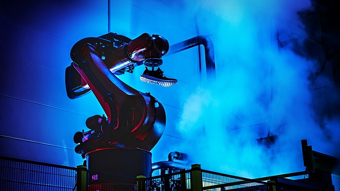 The company started production of shoes largely by robots at its Speedfactory in 2016. © adidas