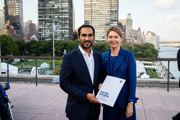 Pictured: Artistic Milliners' Director Murtaza Ahmed. The 2019 SDG Pioneers attended the UN Global Compact Leaders Week organised on the sidelines of the 74th session of the UN General Assembly in New York this September. © Artistic Milliners