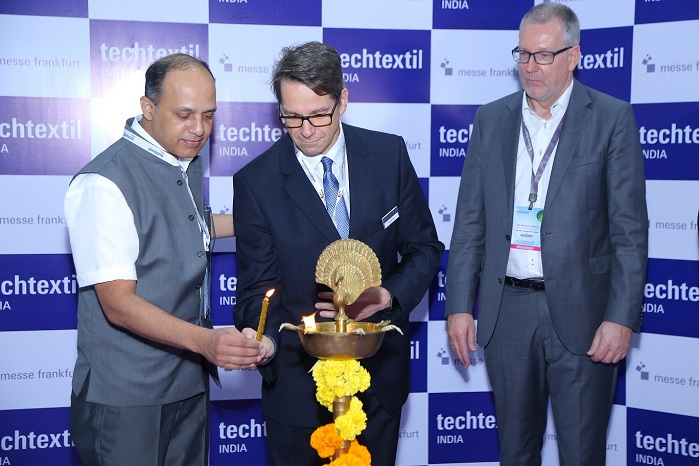 The seventh edition of Techtextil India was inaugurated by Shri Ajit Chavan, Secretary, Textiles Committee, Ministry of Textiles, Government of India. © Techtextil India