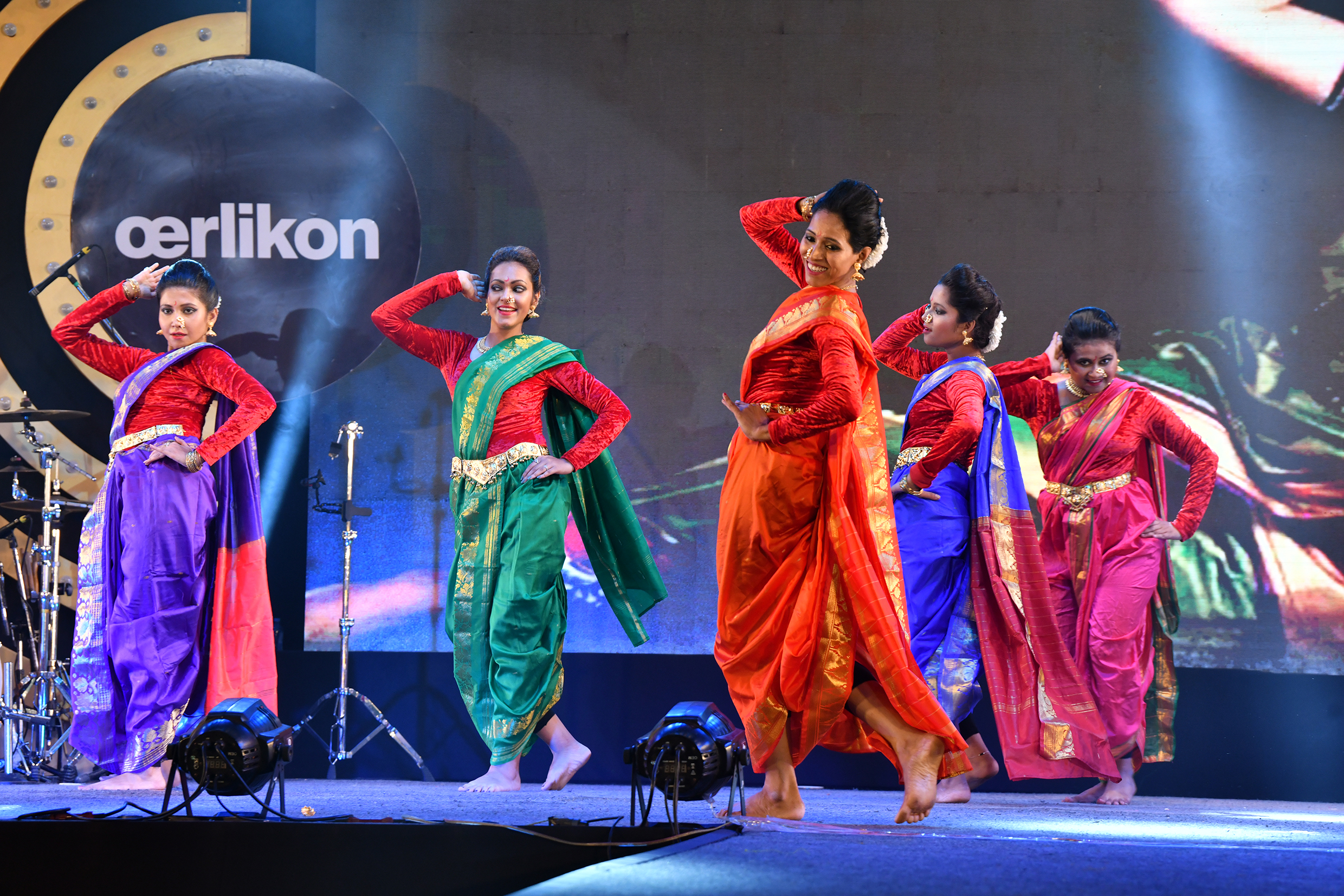 The 'Sukalyann d'entourage' dance troupe with its 'Amar Sonar Bangla' program.