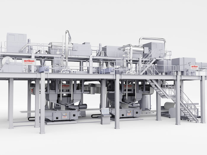 Oerlikon Nonwoven meltblown nonwovens systems fulfil the very highest quality requirements when manufacturing high-end materials for filtration applications and medical products. © Oerlikon.