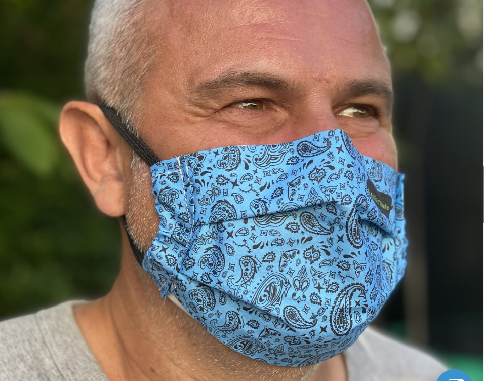 The Brilliant face mask designed by the Innovation Team at Alder Hey Children's NHS Foundation Trust. © Heathcoat Fabrics.