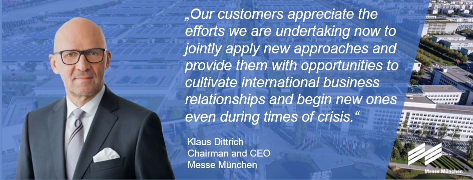 Klaus Dittrich, Chairman and CEO of Messe München. © Messe München GmbH.