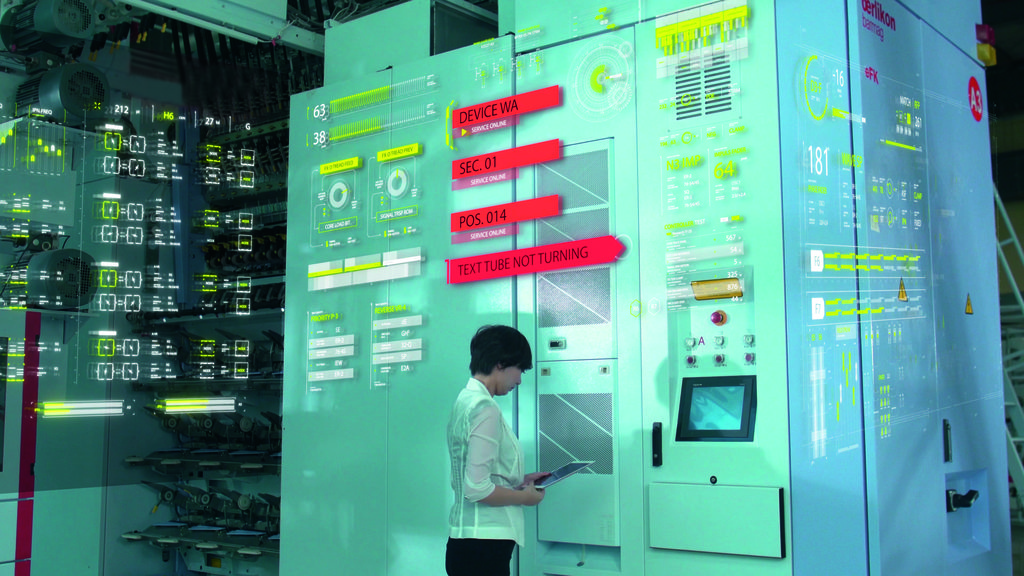 In the smart factory, all process steps are digitally networked. This increases process reliability and allows early corrective intervention in the production process in case of anomalies. © Oerlikon.