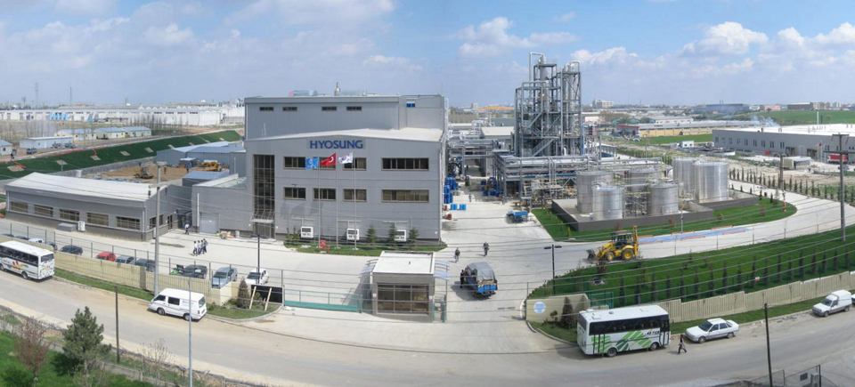Hyosung's creora elastane manufacturing facility based in the Cerkezkoy area of Turkey.