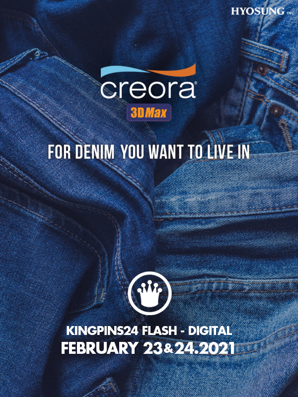 Creora 3D Max. For denim you want to live in. © Hyosung.