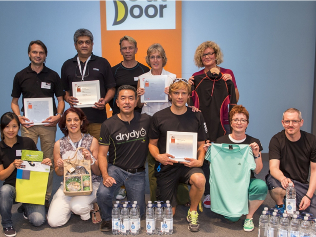 adidas employees collect the OutDoor Industry Award 2013