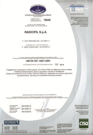 The company's corporate management system, which has already been certified to ISO 9001 and BS OHSAS 18001, is aimed at ensuring that the products and services it supplies are of the highest quality. © RadiciGroup