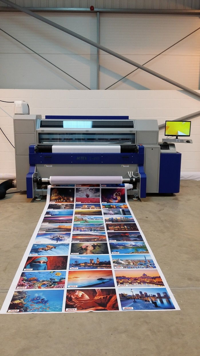 The MTEX 1800 was the first printer to be installed at the centre and is aimed at medium sized display graphic and home textile companies. © MTEX
