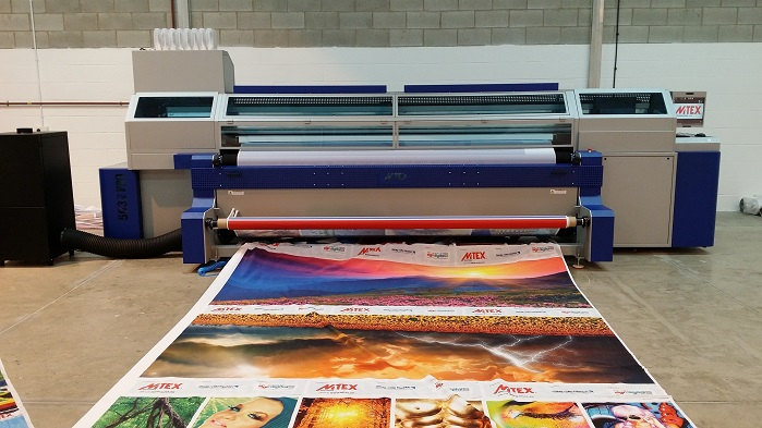 Different fabrics can have varying tensions across the roll, so MTEX developed an electro-pneumatic feeding system that handles the challenges inherent with printing onto textiles with ease, and prevents errors occurring during the print process. © MTEX