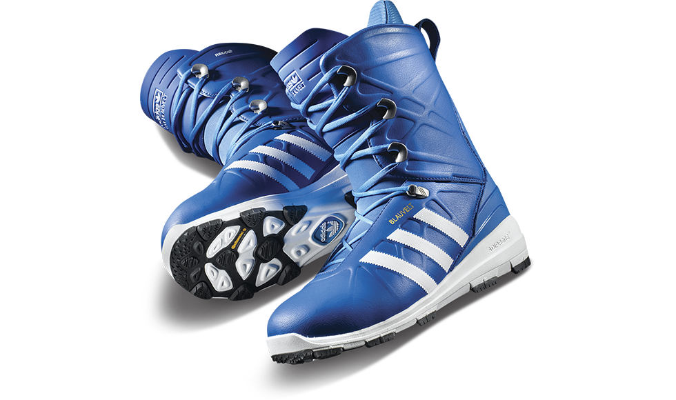 This signature snowboarding boot is packed full of technological features including Continental© rubber, Recco© avalanche rescue technology, Aerotherm thermal barrier, and recycled coffee ground materials for odour neutralization. © Adidas