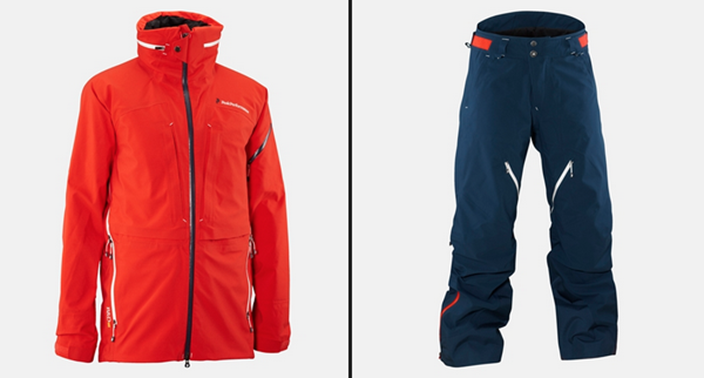 Peak Performance Heli Aero Jacket and Pants. Image © Peak Performance.
