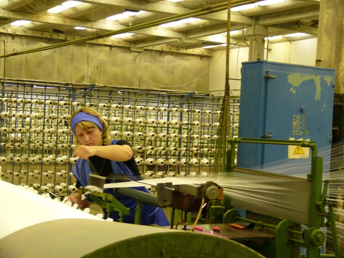 Inside Baltex, one of Russia's leading producers of technical textiles and nonwovens. © Eugene Gerden
