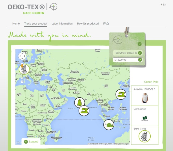 Oeko-Tex has introduced a new consumer website, which enables interested parties to discover more information about the label. © Oeko-Tex