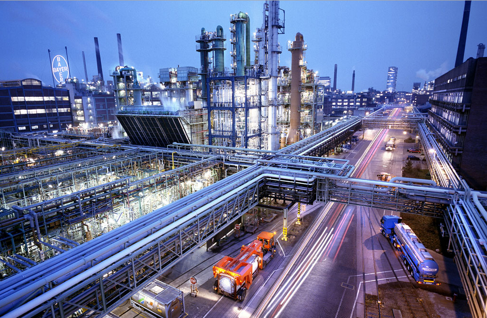 Production facilities in Leverkusen, Germany, where Bayer MaterialScience is headquartered. © Bayer MaterialScience