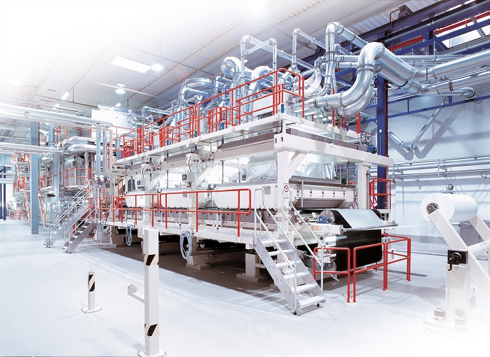 Oerlikon Neumag airlaid technology with new forming head. © Oerlikon Neumag