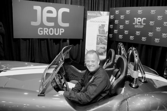 Ron Garan riding the 3-D Shelby Car. © JEC Group